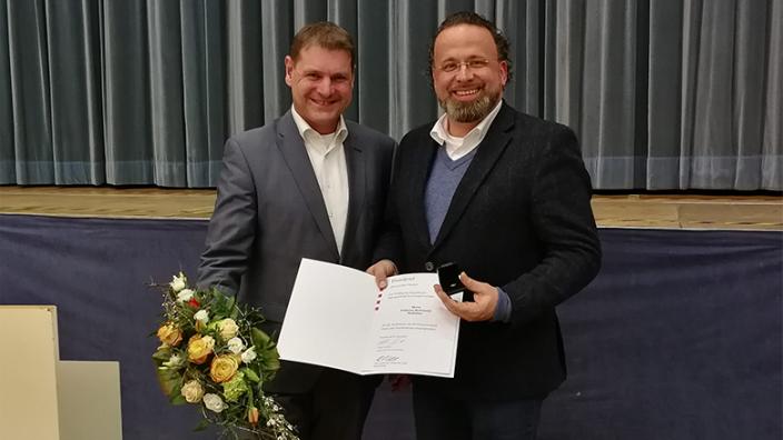Verleihung des Ehrenbriefes an Johannes Rothmund